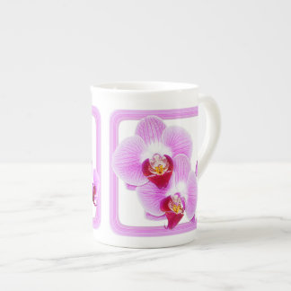 Radiant Orchid Closeup Photo with Square Frame Tea Cup