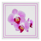 Radiant Orchid Closeup Photograph Poster