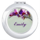 Radiant Orchid Flower Personalised Compact Mirror