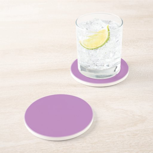 Radiant Orchid Polka Dot 2 Drink Coasters