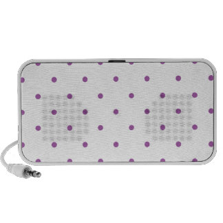 Radiant Orchid Polkadots Small Speaker System