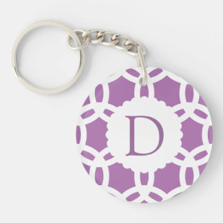 Radiant Orchid Purple Pattern Key Ring