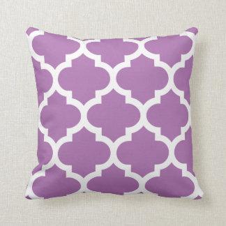 Radiant Orchid Quatrefoil Pillow