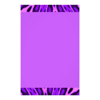 Radiant Orchid Spotted Leopard Custom Stationery