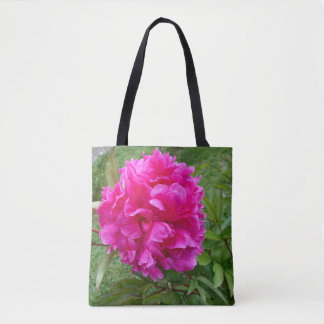 Radiant Pink Peony Tote Bag