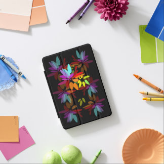 Radiant Rainbow Colors Stylized Floral Euphoric iPad Mini Cover