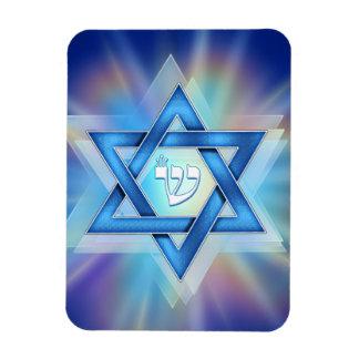 Radiant Star of David Rectangle Magnets