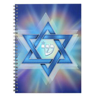 Radiant Star of David Spiral Note Book