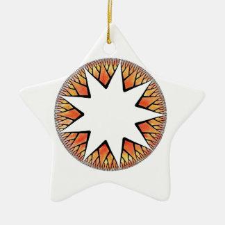 Radiant Sun Star Ceramic Star Decoration