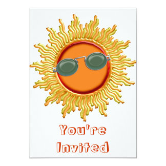 Radiant Sun with Sunglasses Card