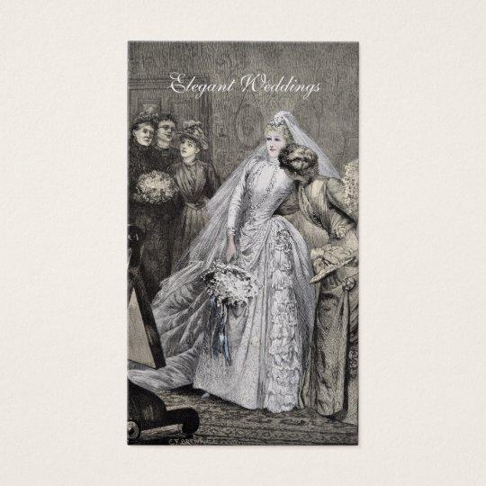 Radiant vintage bride business card