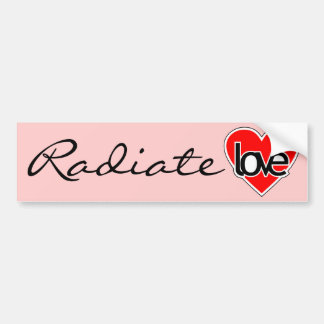 Radiate love bumper sticker
