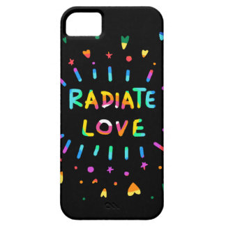 Radiate Love Colorful Rainbow Painting Black Case iPhone 5 Cover