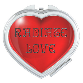 Radiate Love Heart Mirrors For Makeup