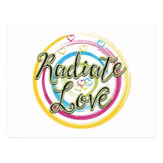 Radiate Love Post Cards