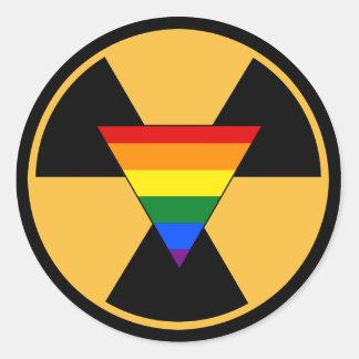 Radiate Your Pride! Round Sticker