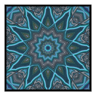 Radiating Blues Photographic Print