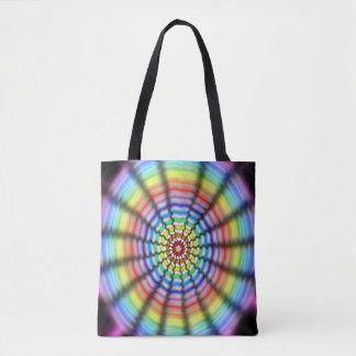 Radiating Flower Tote Bag
