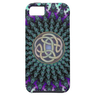 Radiating Fractal Mandala Grunge Celtic Knot Case For The iPhone 5