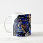 Radiating Nativity Stained Glass Blue Classic White Coffee Mug