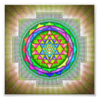 Radiating Sri Yantra Mandala IV Photo Print
