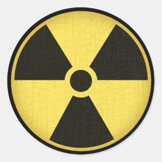 Radiation 1 classic round sticker