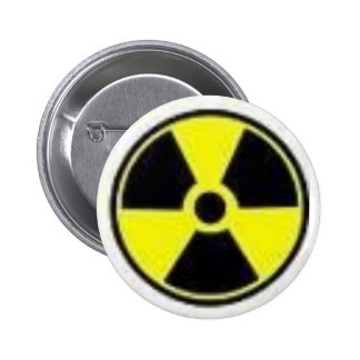 radiation 6 cm round badge
