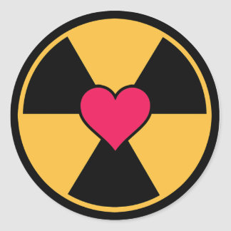 Radiation and heart stickers