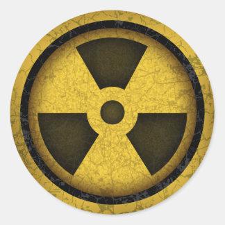 Radiation -cl-dist-2 round sticker