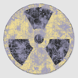 Radiation -cl-dist round sticker
