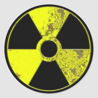 Radiation Classic Round Sticker