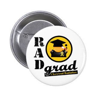 Radiation Grad CHILDHOOD CANCER 6 Cm Round Badge