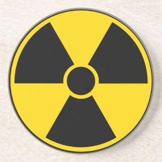 Radiation Hazard Sign Sandstone Coaster