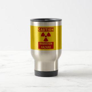 radiation hazard stainless steel travel mug