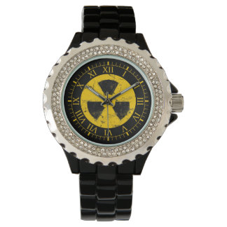 Radiation Nuclear Symbol Wristwatches