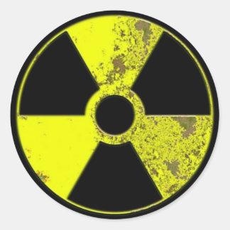 Radiation Round Sticker