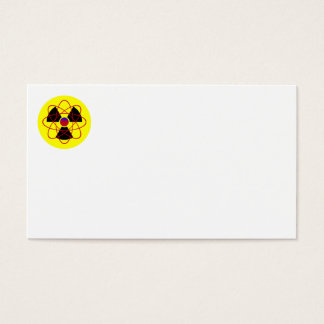 Radiation Sign & Atom Business Cards