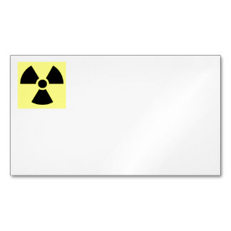 Radiation Sign Business Cards Magnetic Business Cards