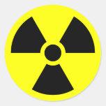 Radiation Sign Classic Round Sticker