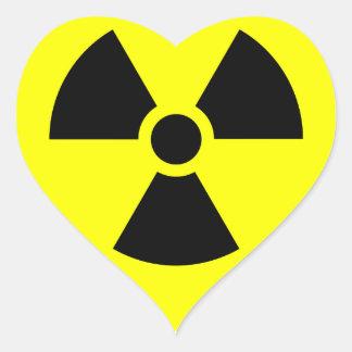Radiation Sign Heart Sticker