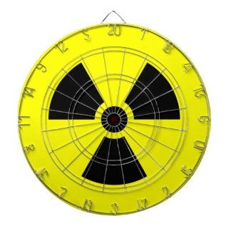 Radiation Sign Metal Cage Dartboard