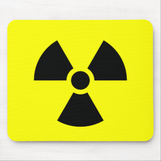 Radiation Sign Mouse Mat