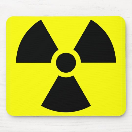 Radiation Sign Mousepad