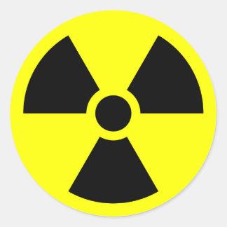Radiation Sign Round Sticker