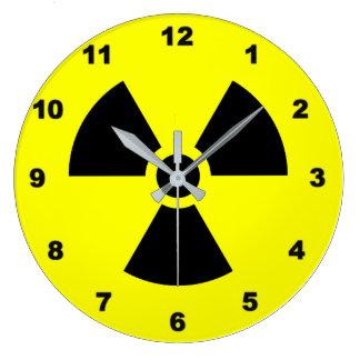 Radiation Sign Wall Clock