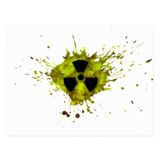 Radiation Splat - Radioactive Waste Postcard