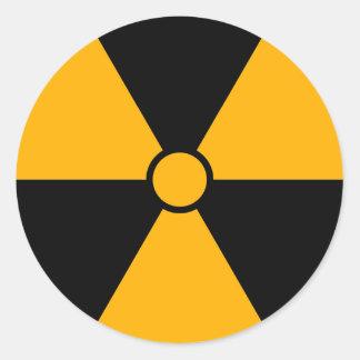 Radiation Symbol Classic Round Sticker