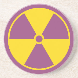 Radiation Symbol Coaster