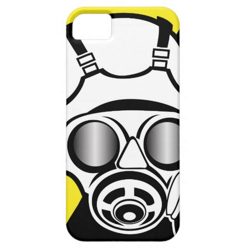 Radiation Symbol Gas Mask iPhone 5 Cover