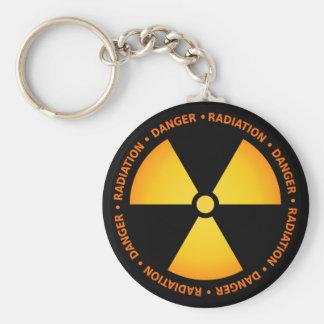 Radiation Symbol Keychain